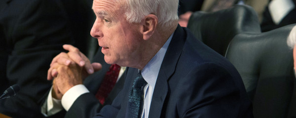 John McCain at hearing; adapted from defense.gov image