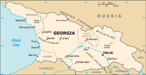 Georgia Johnsons Russia List - Georgia map ukraine