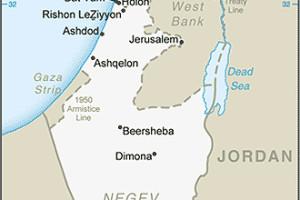 Map of Israel, Palestine, Holy Land