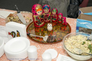 File Photo of Russian Food and Nesting Dolls