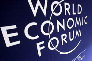 World Economic Forum Signage file photo