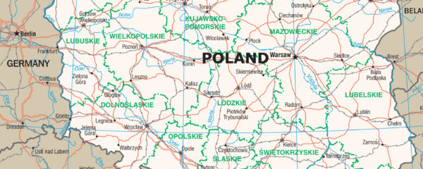 Map of Poland and Environs