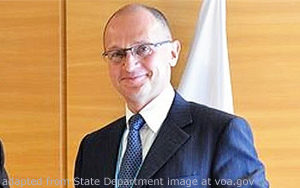 Sergei Kirienko file photo, adapted from State Department photo at voa.gov