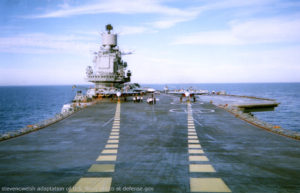 File Photo of Deck of Russian Aircraft Carrier Admiral Kuznetsov