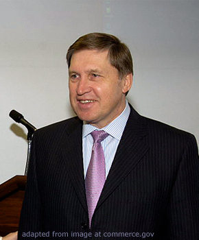 Yuri Ushakov file photo, adapted from image a t commerce.gov