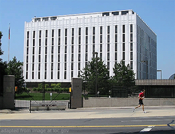 File Photo of Russian Embassy in Washington, D.C., Adapted From Image at loc.gov
