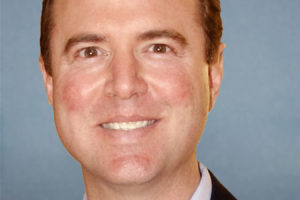 Adam Schiff file photo, adapted from image at congress.gov