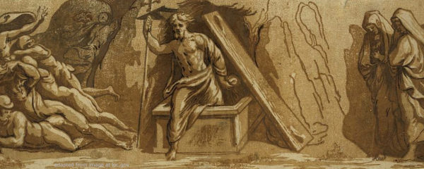 File Image of Resurrection of Christ by Raphael, adapted from image at loc.gov