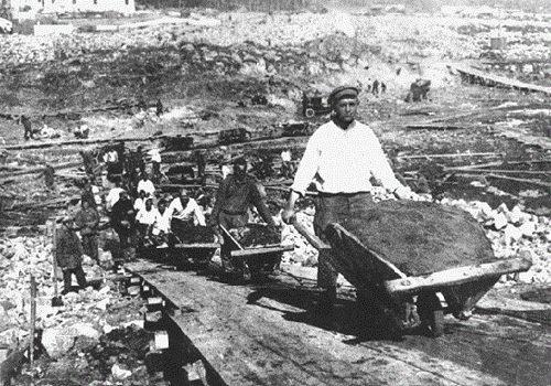File Photo of Soviet Gulag at Manzanar, adapted from image at nps.gov