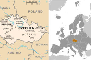 Maps of Czech Republic and Environs, adapted from images at CIA.gov