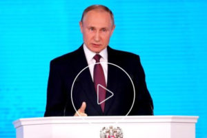 File Photo of Screenshot of Vladimir Putin Addressing Federal Assembly, adapted from video at kremlin.ru