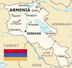 Armenia Map and Flag