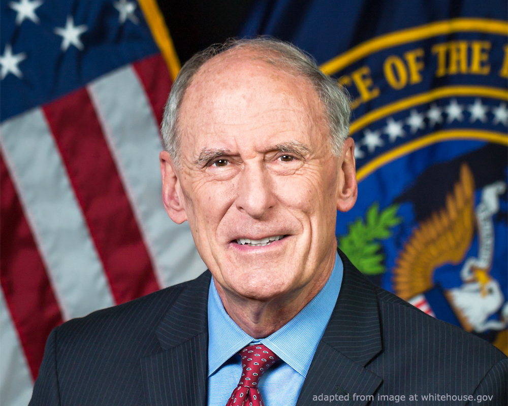 Dan Coats File Photo, adapted from an image at whitehouse.gov