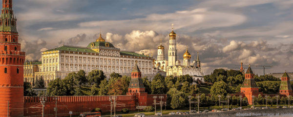View of Kremlin from River, adapted from image at rpolitik.com