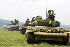File Photo of T-72 Tanks in Bulgaria, adapted from image at defense.gov, with photo credit to Cpl. Immanuel Johnson