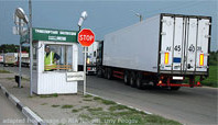 Truck at Russian Border Crossing