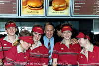 File Photo of Russian McDbnald's Crew with U.S. Diplomat
