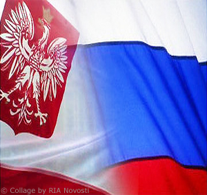 Polish and Russian Flags