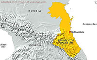 Map of Dagestan, Georgia and Environs