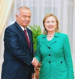 File Photo of Hillary Rodham Clinton with Nazarbayev