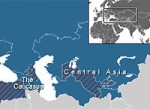 Map of Caucasus and Central Asia