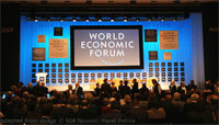 "File Photo of ""World Economic Forum"" Display at Davos from Past Session"