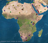 Africa Satellite Image Map
