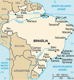 Map of Brazil and Environs