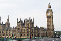 File Photo of British Parliament Building Including Saint Stephen's Tower Containing Big Ben