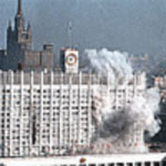 File Photo of Parliament Building Billowing Smoke in 1993