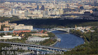 Aerial View of Moscow From Beyond Stadium, file photo