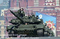 File Photo of Russian Tanks in Military Parade