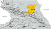 Map of Chechnya and Environs
