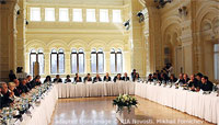 File Photo of Valdai Club Gathering at Long Tables in Large Hall Valdai Club Gathering at Long Tables in Large Hall