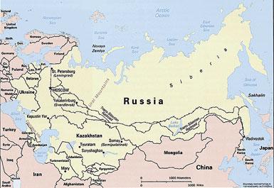 Map of Former Soviet Union