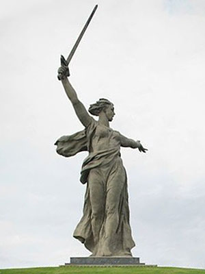 Large Mother Russia Statue Near Volgograd