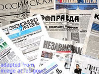 Collage of Russian Newspapers