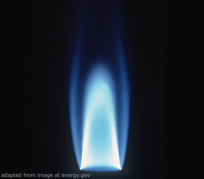 Gas Flame file photo
