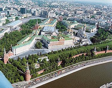 Aerial View of Kremlin and Environs