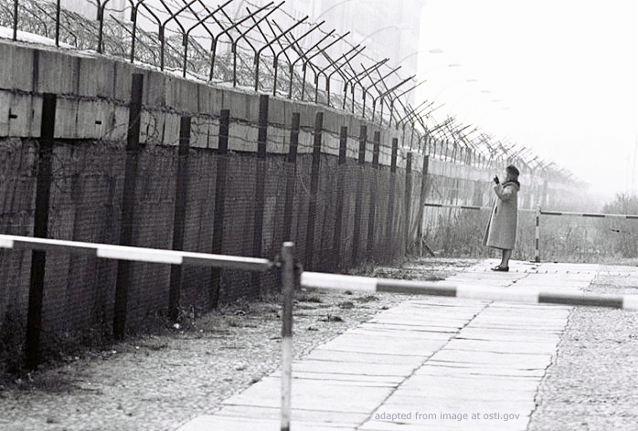 Berlin Wall, Fencing, Barbed Wire, Women