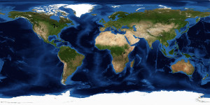 Mercator Projection Satellite Image of Earth
