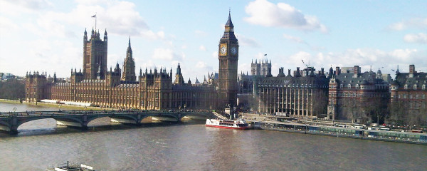 File Photo of British Parliament Building, Big Ben, Thames, adapted from image at loc.gov