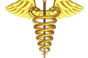 Medical Symbol with Pole, Serpents, Wings