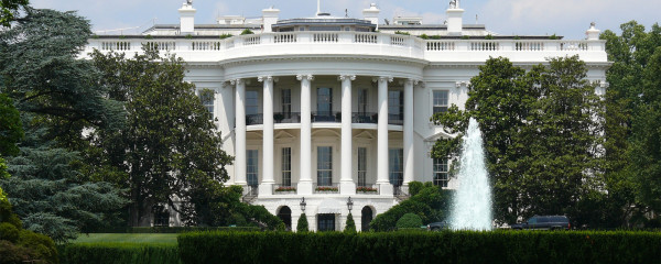 File Photo of White House with South Lawn and Fountain