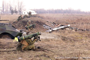 File Photo of Soldier Firing Javelin Shoulder-Mounted Anti-Tank Missile