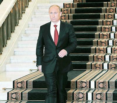 Putin Descending a Staircase