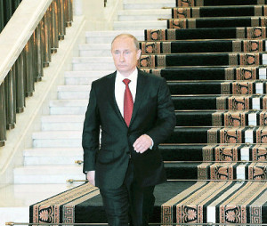 Putin Descending a Staircase