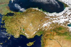 Turkey and Environs Satellite Image
