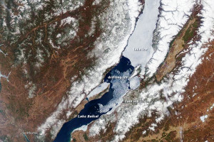 Lake Baikal and Environs Satellite Photo