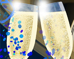 File Image of Artist's Rendition of Champagne Glasses